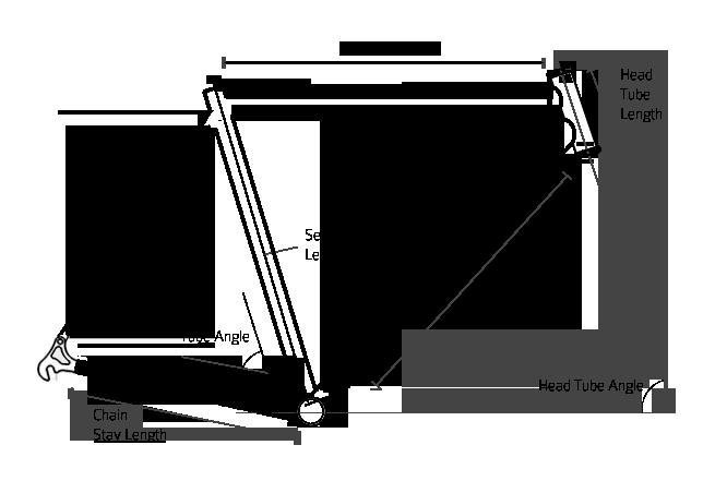 inox bicycle frame sizes geometry
